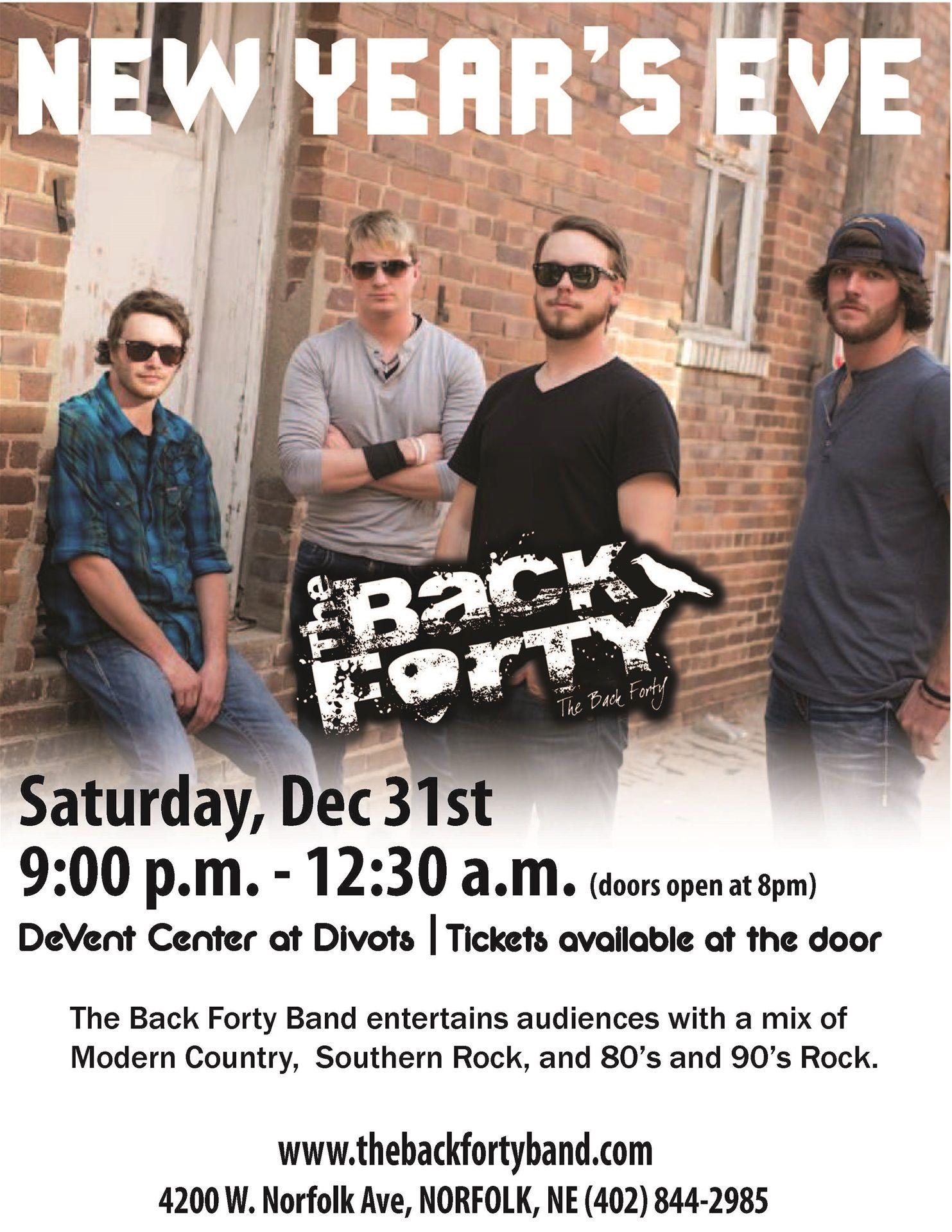 Live Music featuring The Back Forty at 