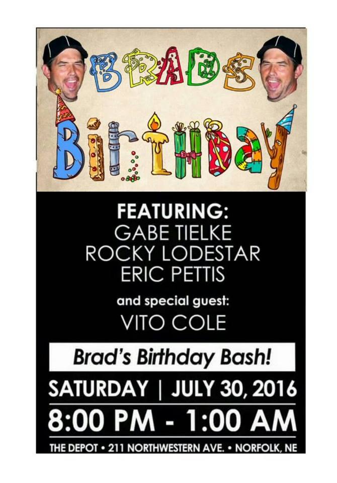 Live Music & Dance at Brad's Birthday Bash 
