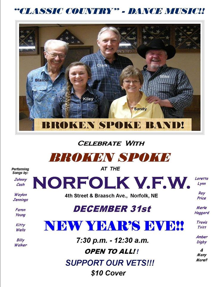 Live Music featuring The Broken Spoke Band at the