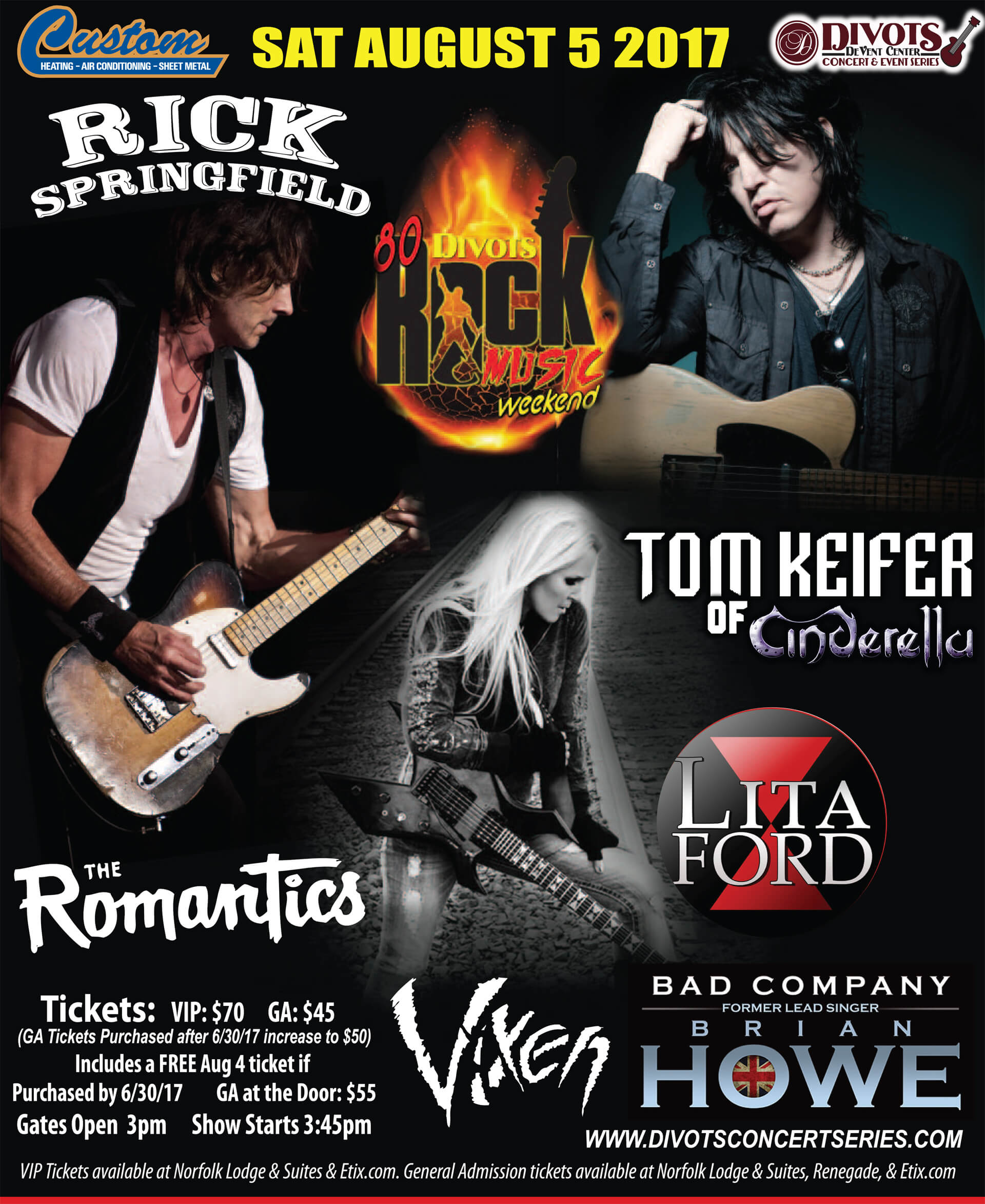 80's Rock Weekend live in concert at Divots DeVent Center featuring 