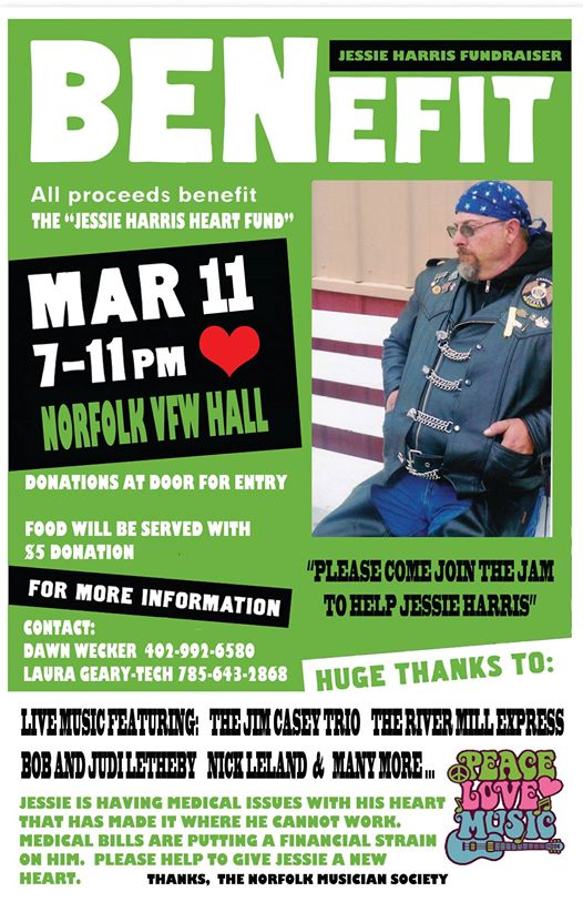Benefit for Jesse Harris at the Norfolk VFW in Norfolk, Nebraska 
