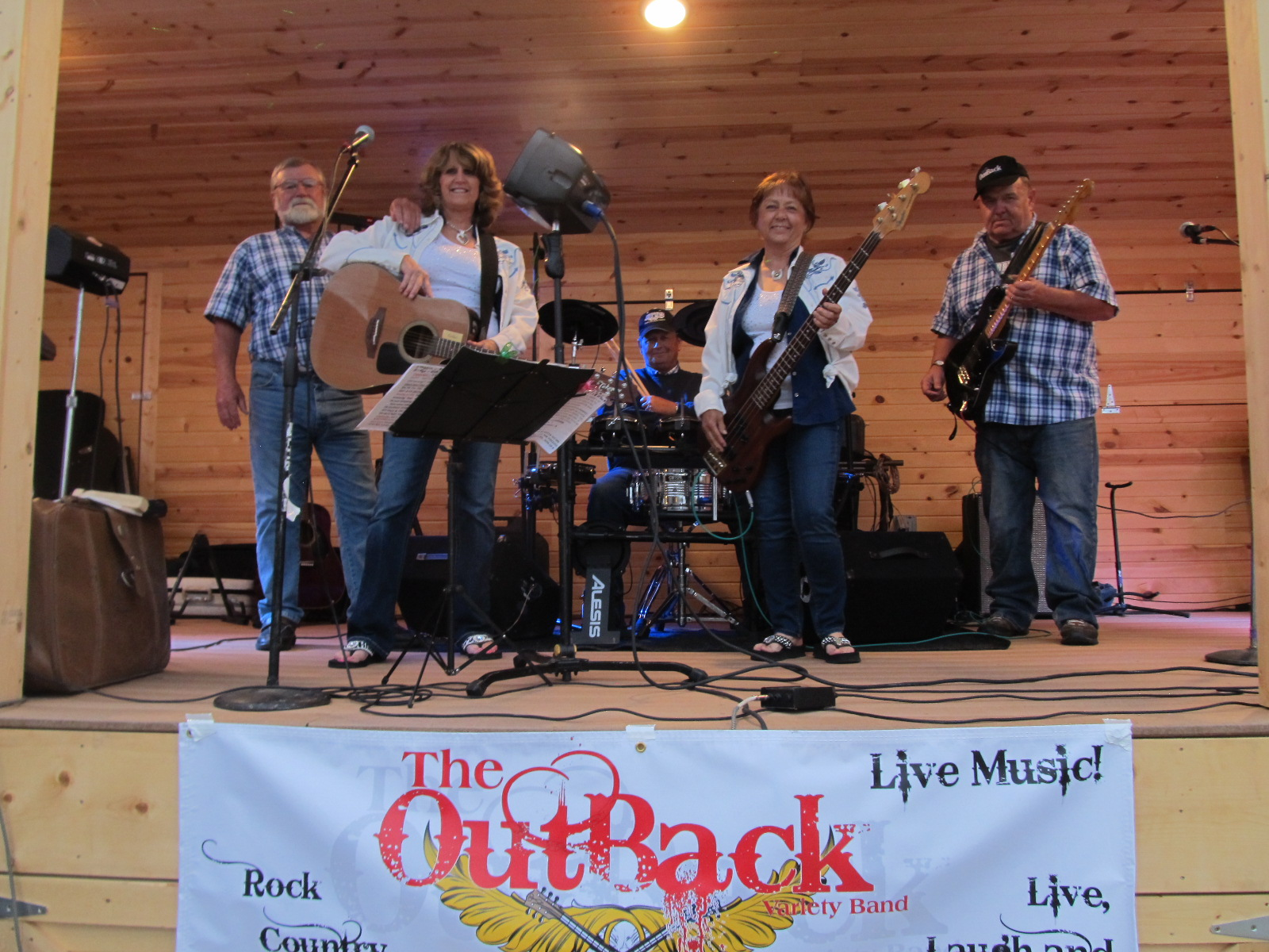 The OutBack Band Performing live at 