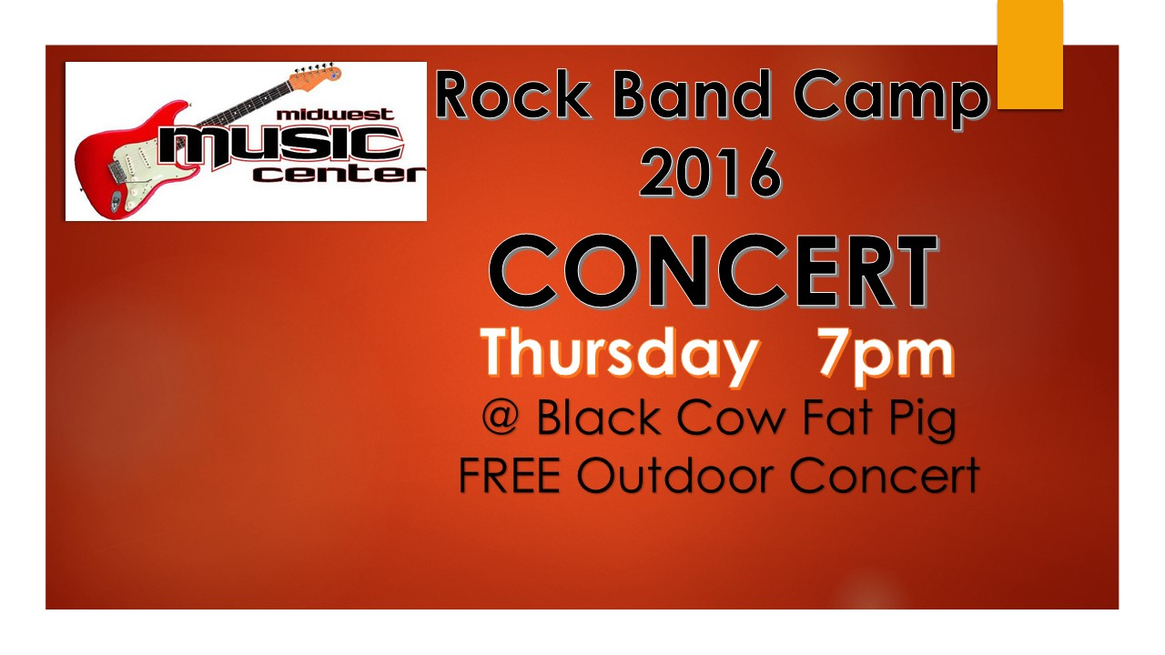 Live Music Concert featuring the Midwest Music Rock Band Camp at  