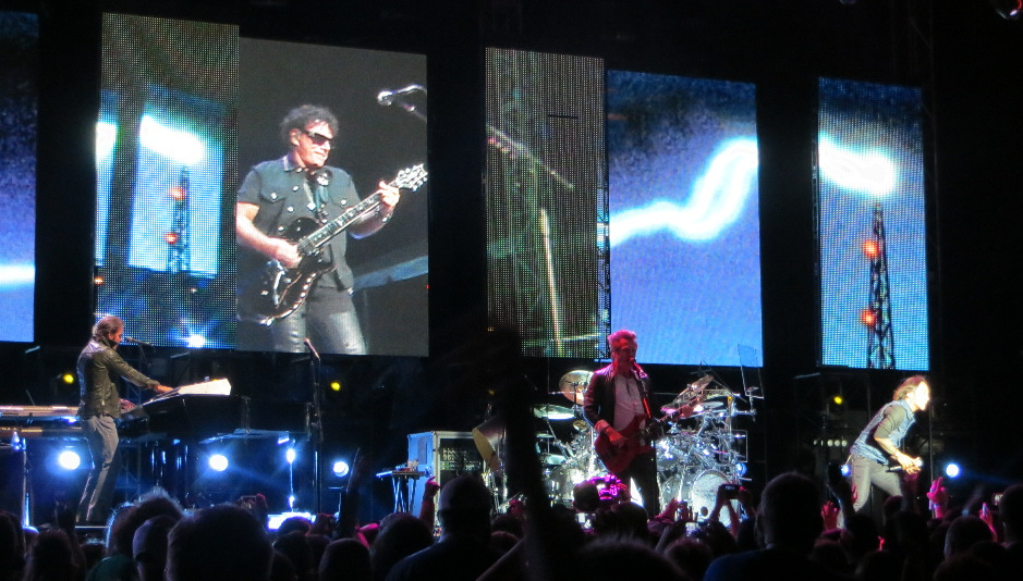 Journey performing at Divots Devent Center in Norfolk, Nebraska