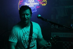 Matt Moseman from Northeast Nebraska Band Frequency performing live at Shenanigans in Columbus, NE